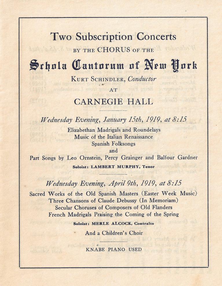 programa scola cantorum nova york