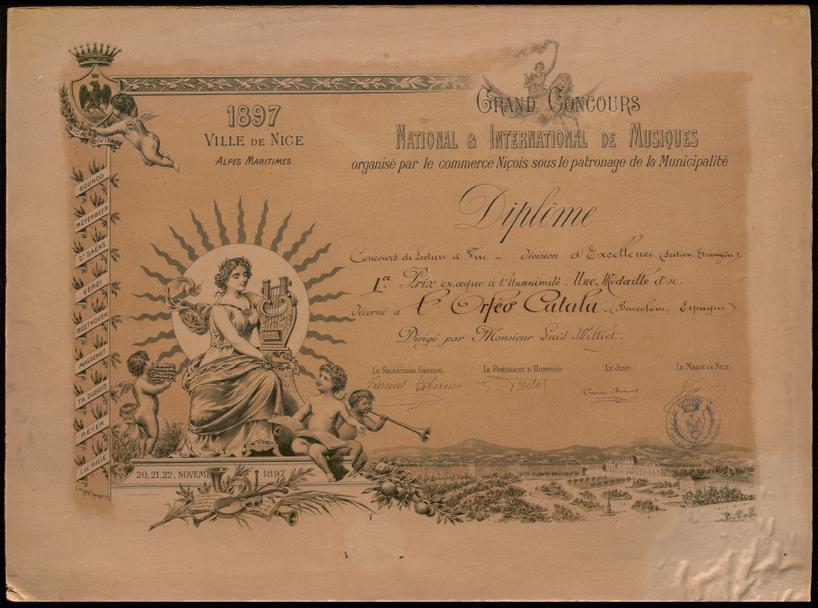 Diploma d'honor del Concurs Internacional de Niça
